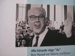 Bror Anders Rexed, ο καθηγητής που ξεκίνησε την κατάργηση των τίτλων ευγενείας.
